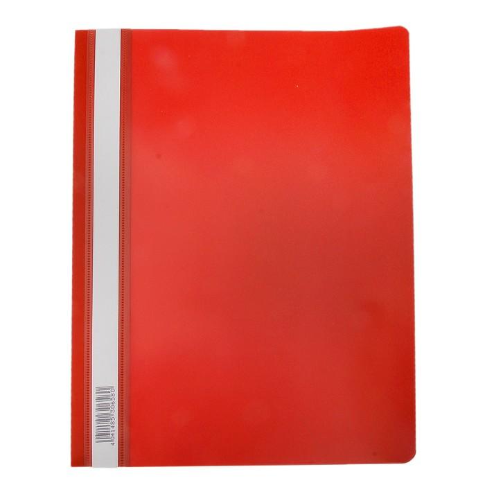 Папка-скоросшиватель A4 Erich Krause Semi-Clear Economy, красная