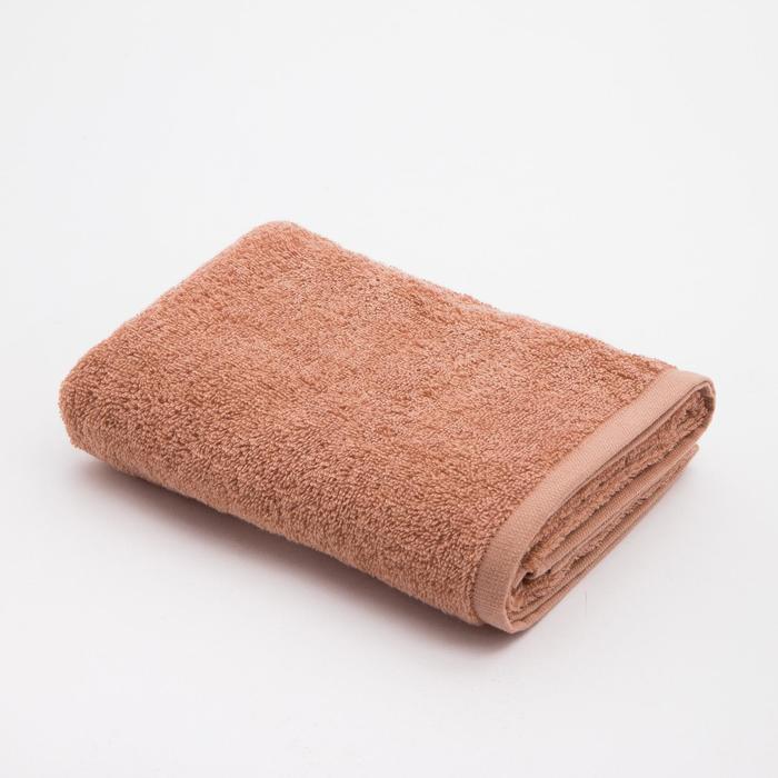 Полотенце махровое Экономь и Я 50*90 см, мокко 100%хл, 360 г/м2 - фото 881370