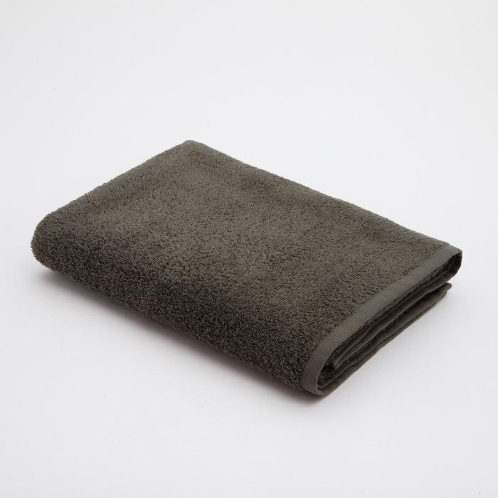 Полотенце махровое Экономь и Я 70*130 см, темный хаки - фото 871741