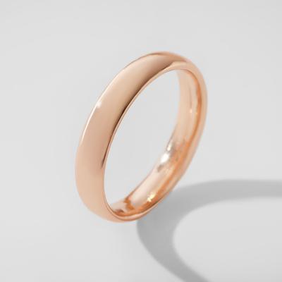 """Кольцо обручальное """"Классик"""", цвет золото, размер 19"""