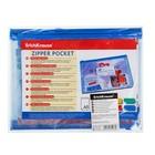 Папка-конверт на гибкой молнии Zip, A5, (238 х 179 мм) Erich Krause PVC Zip Pocket, тиснение - зеркало, МИКС - фото 2068619