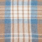 Плед «Метро», 170х210, бежевый/белый/серо-голубой - фото 1146895