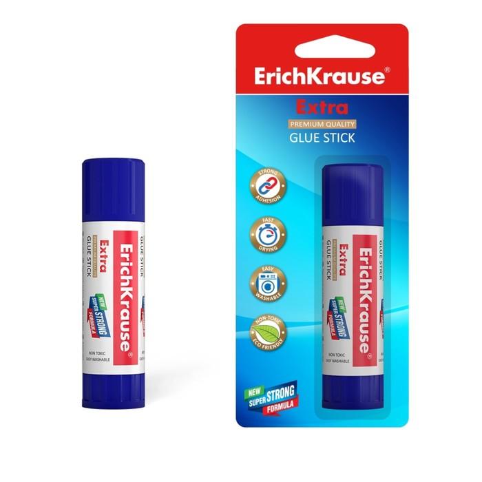 Клей-карандаш PVP 21 г Erich Krause Extra, в блистере
