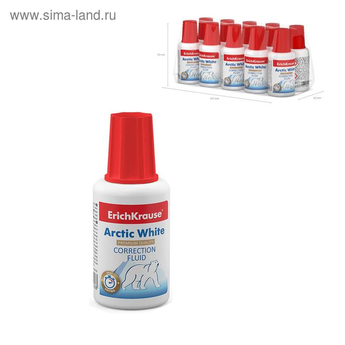 Корректирующая жидкость 20мл ARCTIC WHITE, EK 6