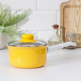Ковш Эстет «Ярко-Жёлтый», 1 л, с крышкой