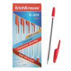 Ручка шариковая Erich Krause R-301 Classic, узел 1.0 мм, чернила красные, длина линии письма 2000м