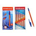 Ручка шариковая Erich Krause R-301 orange стержень синий, упаковка 50 штук, узел 0.7мм, EK 22187