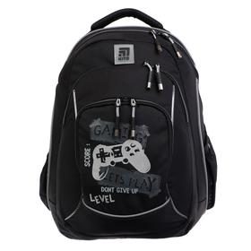 Рюкзак молодежный, Kite 814, 44 х 31 х 15 см, с эргономичной спинкой, LED элементы (светящиеся), чёрный