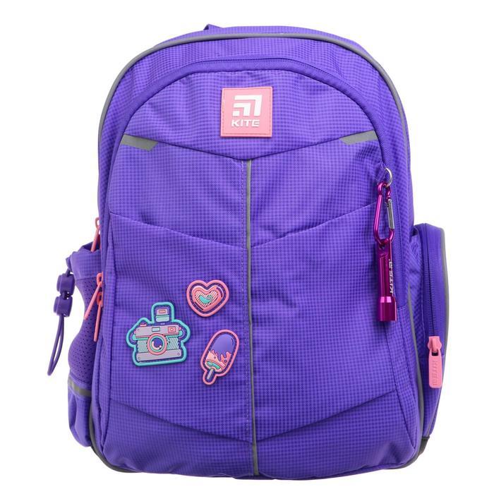 Рюкзак школьный, Kite 771, 36 х 25 х 12, с эргономичной спинкой, Insta-girl - фото 826266