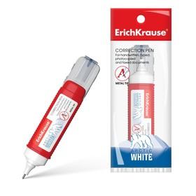 Ручка-корректор 12мл Erich Krause ARCTIC WHITE, с металлическим наконечником, в пакетике