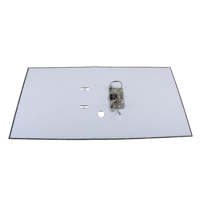 Папка-регистратор А4, 50 мм, Economy, собранный, мраморный, серый, картон 1.75 мм, вместимость 350 листов - фото 511156825