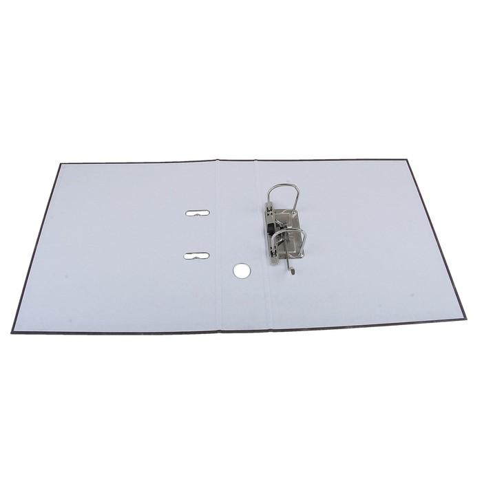 Папка-регистратор А4, 70 мм, Economy, собранный, мраморный, серый, картон 1.75 мм, вместимость 450 листов - фото 551411830