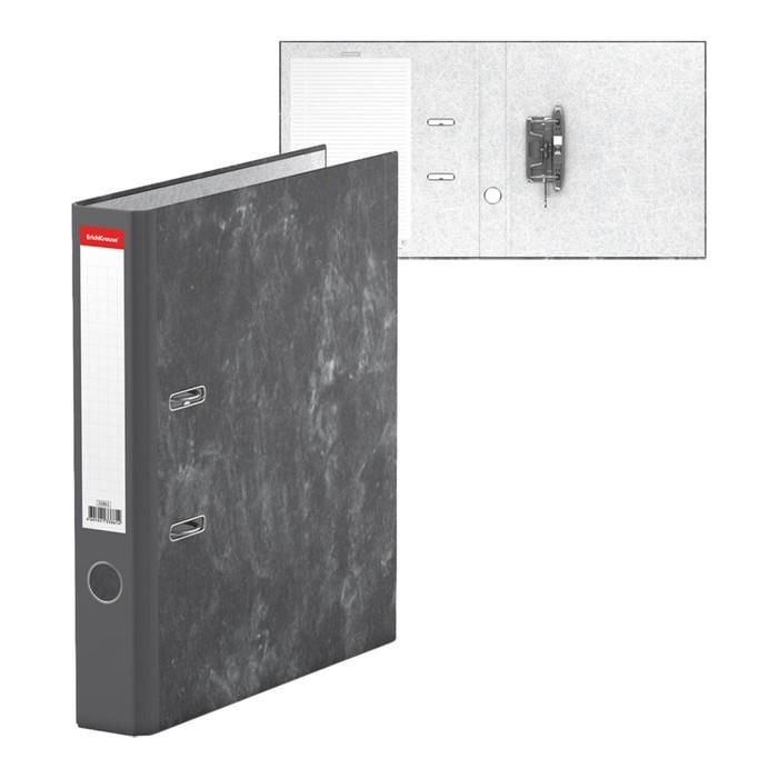 Папка-регистратор А4, 50мм Economy, разборный, мраморный, серый, картон 1.75мм, вместимость 350 листов