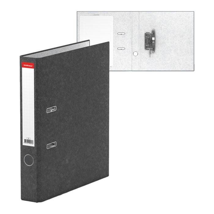 Папка-регистратор А4, 50мм BASIC, разборный, мраморный, серый, этикетка на корешке, картон 2мм, вместимость 350 листов