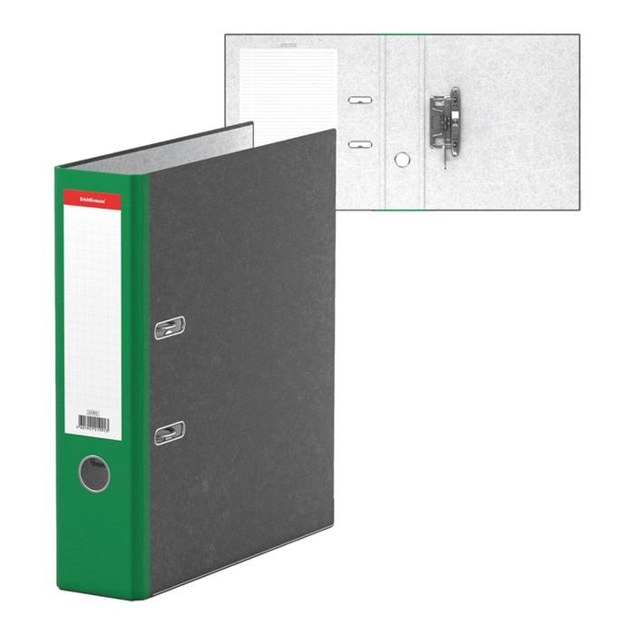 Папка-регистратор А4, 70мм Original, собранный, мраморный, зелёный, пластиковый карман, металлический кант, картон 2мм, вместимость 450 листов