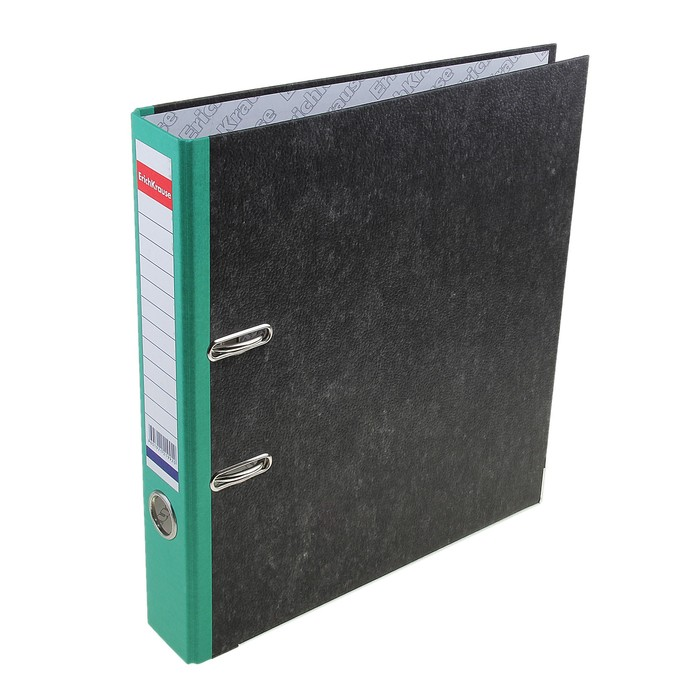 Папка-регистратор А4, 50мм Original, разборный, мраморный, зелёный, этикетка на корешке, металлический кант, картон 2мм, вместимость 350 листов