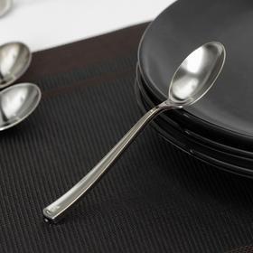 Ложка чайная одноразовая, 12,5 см, цвет серебристый