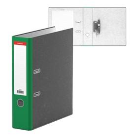 Папка-регистратор А4, 70 мм, Original, разборный, мраморный, зелёный, пластиковый карман, металлический кант, картон 2 мм, вместимость 450 листов
