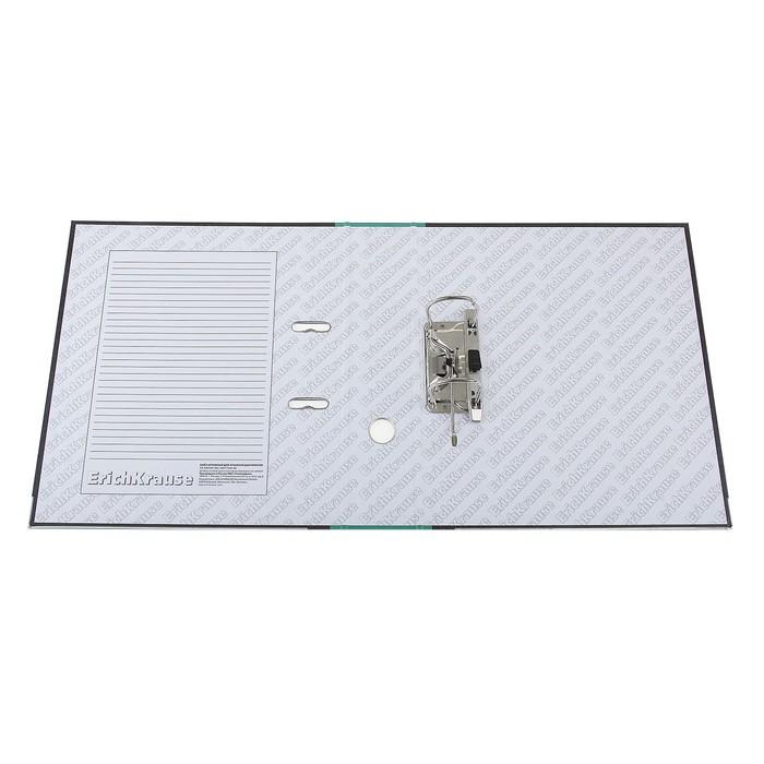 Папка-регистратор А4, 70 мм, Original, разборный, мраморный, зелёный, пластиковый карман, металлический кант, картон 2 мм, вместимость 450 листов - фото 415603790