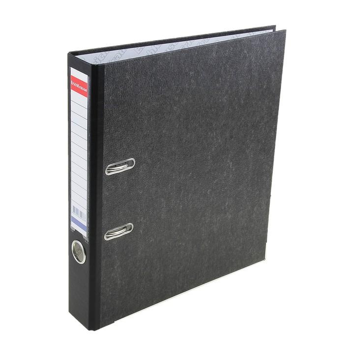 Папка-регистратор А4, 50мм Original Pro, разборный, мраморный, черный, пластиковый карман, металлический кант, картон 2мм, вместимость 350 листов