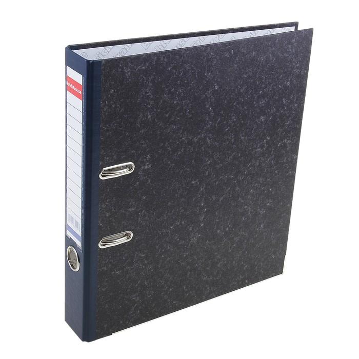 Папка-регистратор А4, 50мм Original Pro, разборный, мраморный, синий, пластиковый карман, металлический кант, картон 2мм, вместимость 350 листов