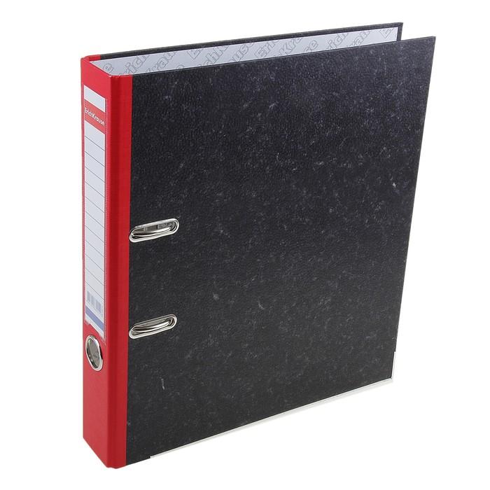 Папка-регистратор А4, 50мм Original Pro, разборный, мраморный красный, пластиковый карман, металлический кант, картон 2мм, вместимость 350 листов