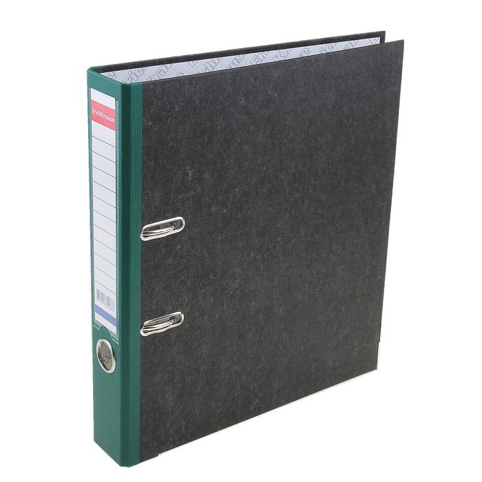 Папка-регистратор А4, 50мм Original Pro, разборный, мраморный, зеленый, пластиковый карман, металлический кант, картон 2мм, вместимость 350 листов