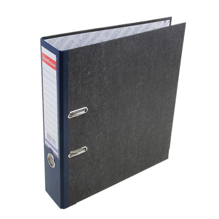 Папка-регистратор А4, 70мм Original Pro, разборный, мраморный, синий, пластиковый карман, металлический кант, картон 2мм, вместимость 450 листов