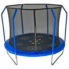 Батут SportElite GAME с принтом, d=244 см, фиберглас, с внутренней защитной сеткой