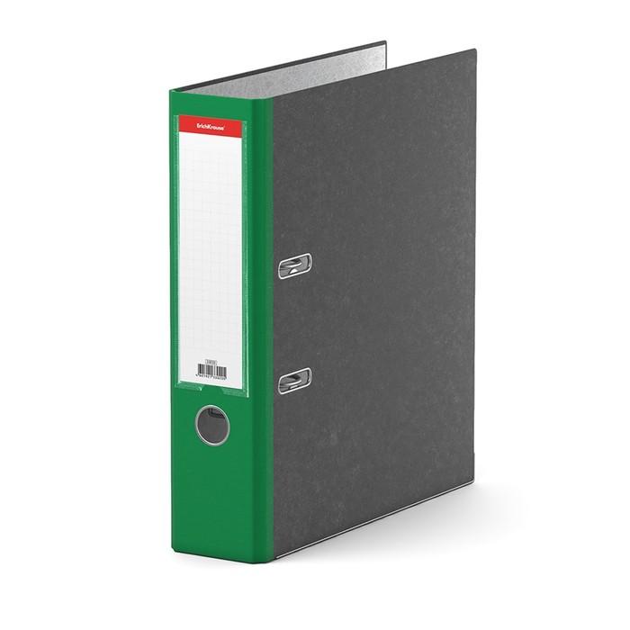 Папка-регистратор А4, 70 мм, Original Pro, разборный, мраморный, зелёный, пластиковый карман, металлический кант, картон 2 мм, вместимость 450 листов