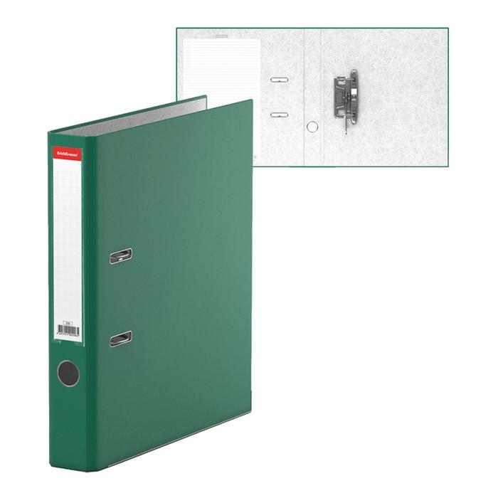 """Папка-регистратор А4, 50мм """"Бизнес"""", собранный, зелёный, картон 2мм, вместимость 350 листов"""