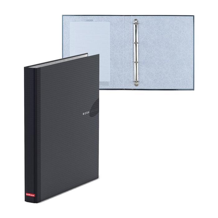 Папка-регистратор на 4 кольцах А4, 35мм Erich Krause WORK INSIDE черная, картон 1.75мм, вместимость 250 листов