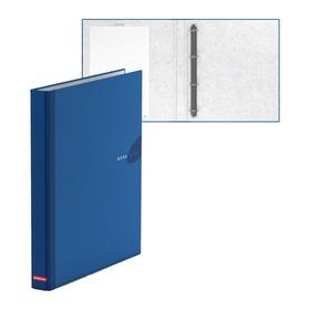 Папка-регистратор на 4 кольцах А4, 35 мм, Erich Krause WORK INSIDE, синяя, картон 1.75 мм, вместимость 250 листов