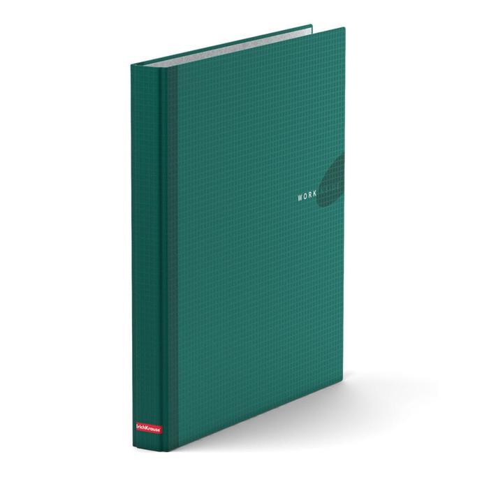 Папка-регистратор на 4 кольцах А4, 35мм Erich Krause WORK INSIDE зелёная, картон 1.75мм, вместимость 250 листов