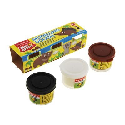 Пластилин на растительной основе Modelling Dough №3, 3 бан*35г, карт/рукав, EK 32710