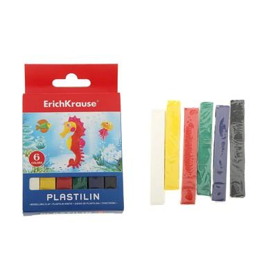 Пластилин 6 цветов 90гр, картон с европодвесом, EK 31054