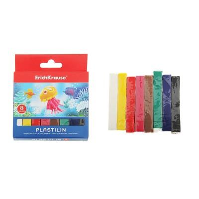 Пластилин 8 цветов 120г, с европодвесом, EK 31055