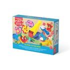 Пластилин на растительной основе набор 8 цветов по 35г Super Extruder Playset + 8 формочек для лепки, скалка, стек, 2 шприца, 2 декоративные линейки, пресс и ролик для пластилина
