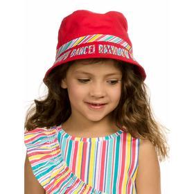 Панама для девочек, размер 48-50, цвет малиновый