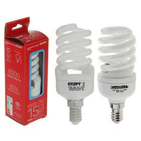 Лампа энергосберегающая 'Старт', Е14, 15 Вт, 4000 K Ош