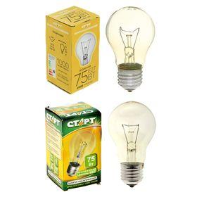 """Лампа накаливания """"Старт"""", Б, Е27, 75 Вт, 230 В"""