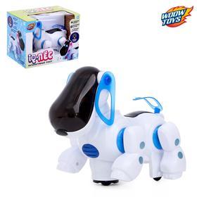 Игрушка-робот «IQ-Пес», работает от батареек, световые и звуковые эффекты, цвет синий