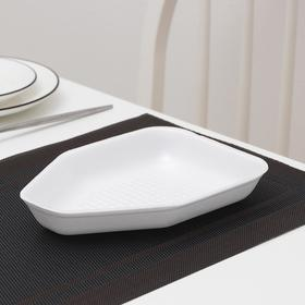 Подложка-лоток для продуктов одноразовая, 22,5×16,2×3,5 см, 600 шт/уп, цвет белый