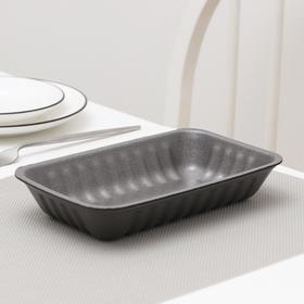 Подложка-лоток для продуктов одноразовая, 22,5×13,5×4 см, 600 шт/уп, цвет чёрный