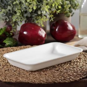 Подложка-лоток для продуктов одноразовая, 22,5×13,5×3 см, 600 шт/уп, цвет белый