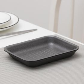 Подложка-лоток для продуктов одноразовая, 17×12,7×2,5 см, 600 шт/уп, цвет чёрный