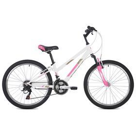 """Велосипед 24"""" Foxx Salsa, цвет белый, размер 12"""""""