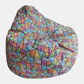 Кресло-мешок «Капля S» диаметр 85, высота 130, цвет оранжевый