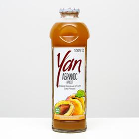 Абрикосово-яблочный сок прямого холодного отжима YAN, 930 мл