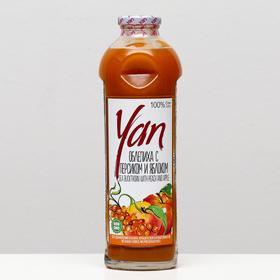 Сок облепихи с добавлением сока персика и сока яблока прямого холодного отжима YAN, 930 мл